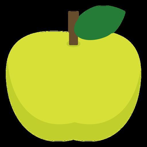 Grüne Apfelfrucht flach Transparent PNG