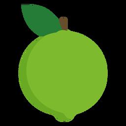 Fruta de guayaba plana