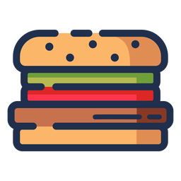 Neon Yellow Burger Icon Transparent Png Svg Vector File
