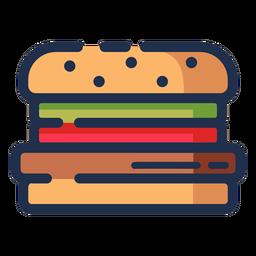 Hamburguesa icono de hamburguesa