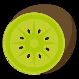 Fruta de kiwi plana