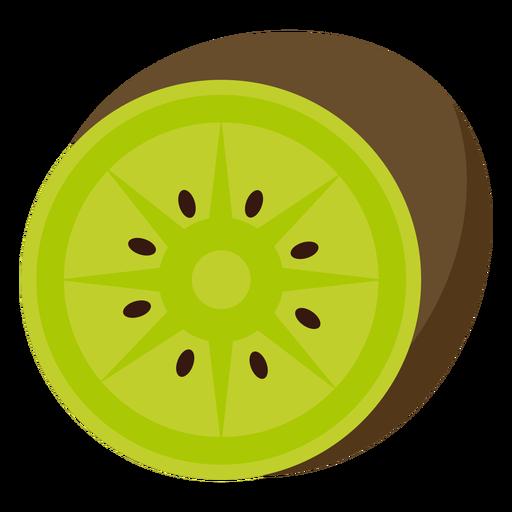 Kiwifruit fruit flat Transparent PNG