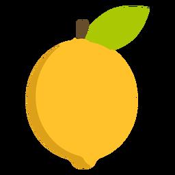 Zitronenfrucht flach