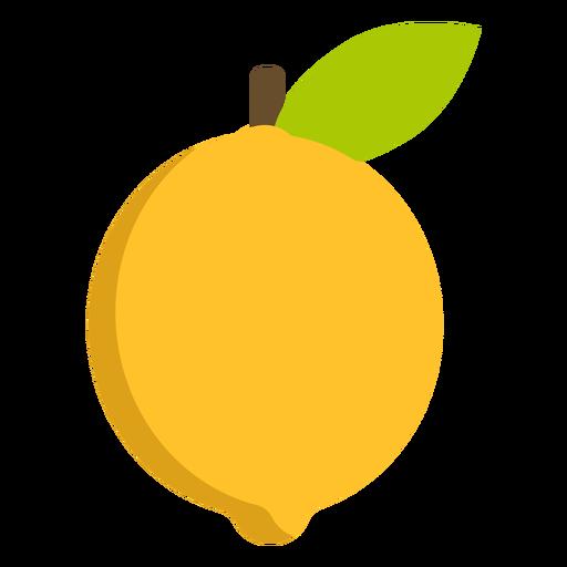 Lemon fruit flat Transparent PNG