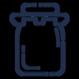 Curso do frasco de pedreiro
