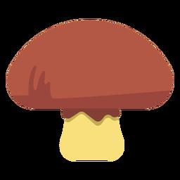 Comida de hongos plana