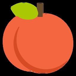 Fruta laranja plana