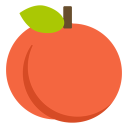 Orange fruit flat