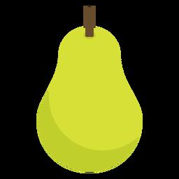 Birnenfrucht flach