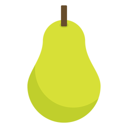Fruta de pêra plana