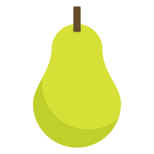 Pear fruit flat Transparent PNG