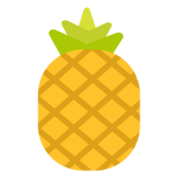 Pineapple fruit flat