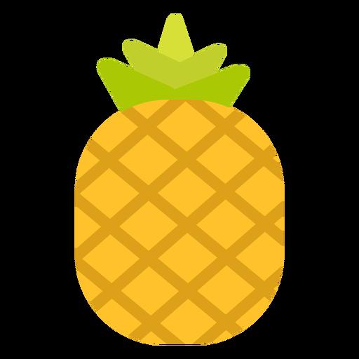 Abacaxi fruta plana Transparent PNG