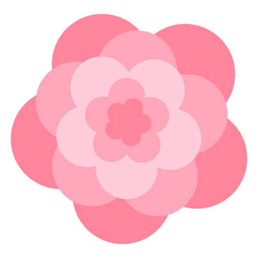 Große Blütenblätter der rosa Blume flach Transparent PNG