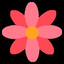 Flor roja rosa plana