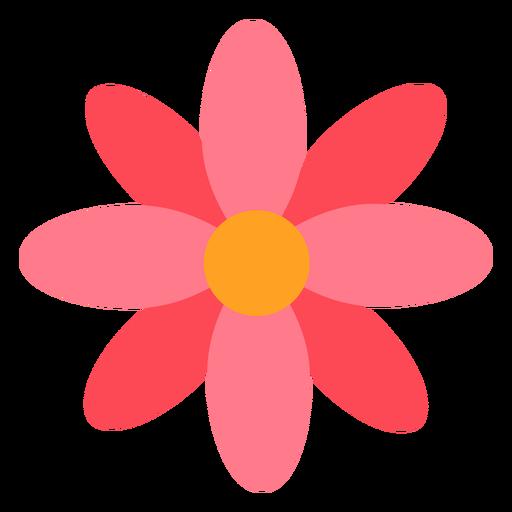 Flor roja rosa plana Transparent PNG