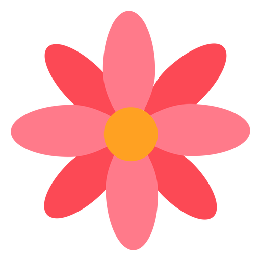 Rosarote Blume flach Transparent PNG