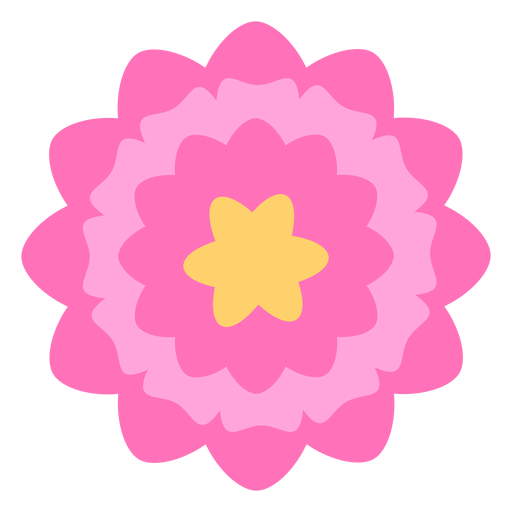 Flor rosa p?talos gruesos planos