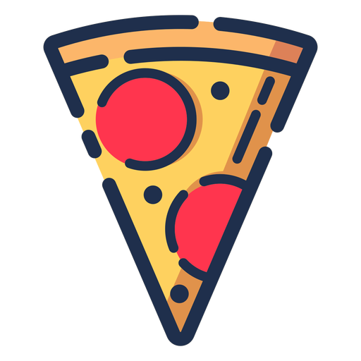 Pizza slice icon Transparent PNG