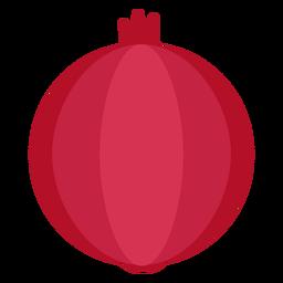 Fruta de romã plana