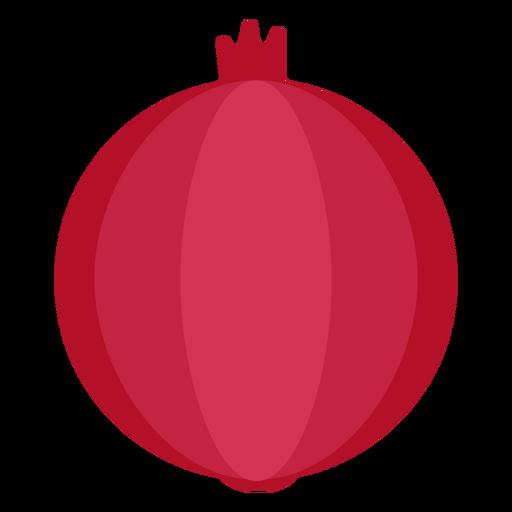 Fruta de granada plana Transparent PNG