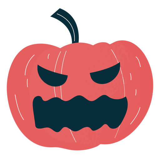 Pumpkin carved character