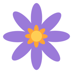 Lila Blume weniger Blütenblätter flach