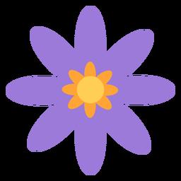 Pétalas menores de flor roxa planas