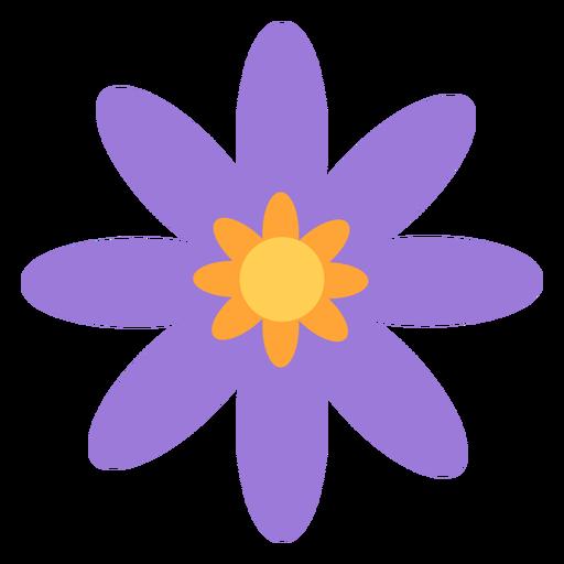 Purple flower lesser petals flat
