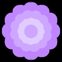 Pétalas grossas de flor roxa planas