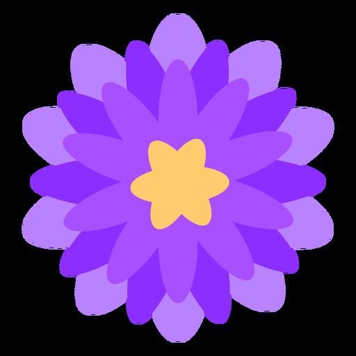 Flor morada p?talos finos planos