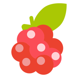 Raspberry fruit flat