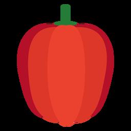 Pimiento rojo vegetal plano