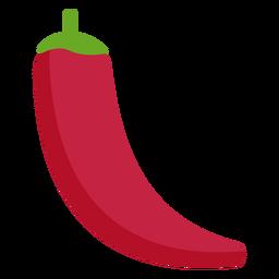Vegetal de chile rojo plano