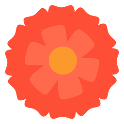 Red flower flat