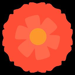 Rote Blume flach