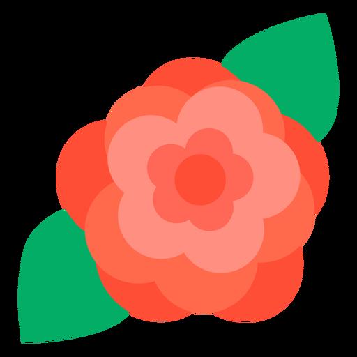 Rose flower flat Transparent PNG