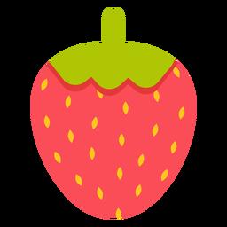 Morango fruta plana