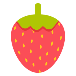 Strawberry fruit flat