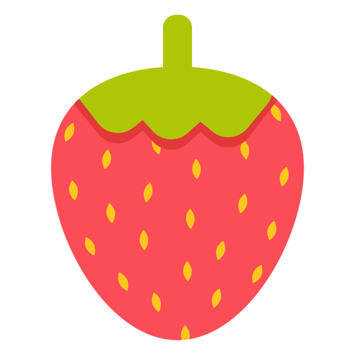 Fresa fruta plana Transparent PNG