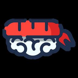 Icono de cola de pescado de sushi