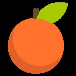 Fruta tangerina plana