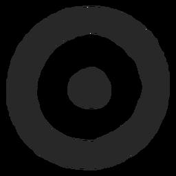 Icono de círculos objetivo