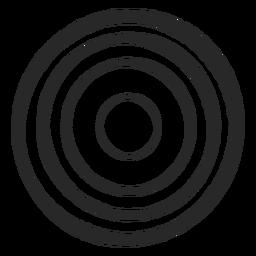 Círculos de destino icono de cuatro círculos