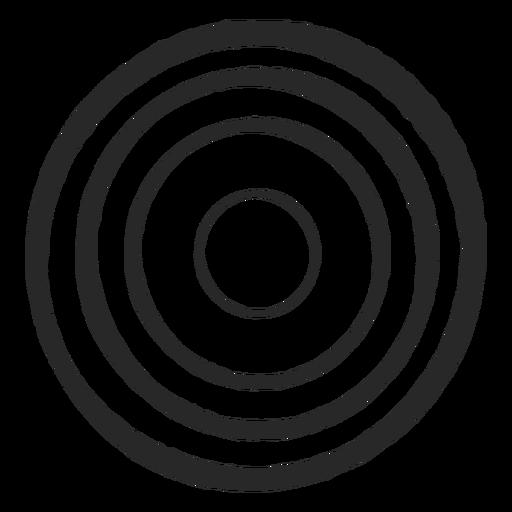 Target circles four circles icon
