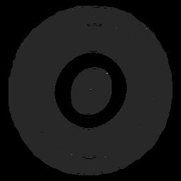 Círculos de destino icono de tres círculos