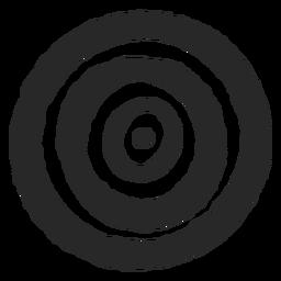 Círculos de destino icono de centro de tres círculos