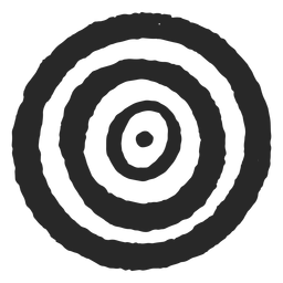 Target circles three circles center icon