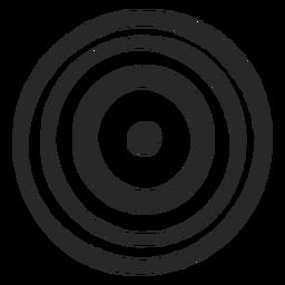 Círculos de destino icono delgado de tres círculos