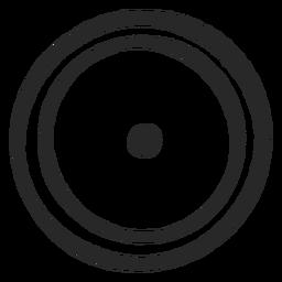 Círculos de destino icono de centro de dos círculos